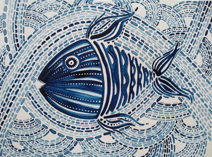 The Hungry Blue Fish - Khrystyna-Maria