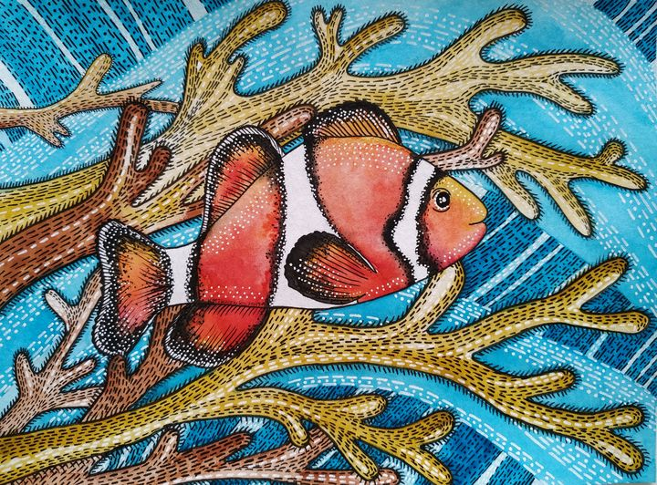 The baby clownfish - Khrystyna-Maria