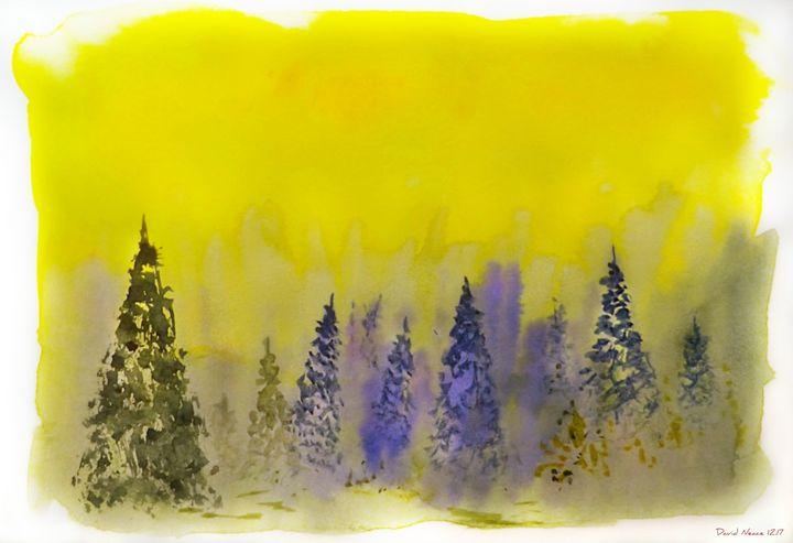 Misty Forest - David Neace Artist