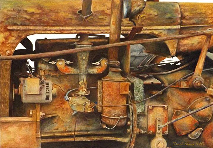 The Old Iron Mule - David Neace Artist