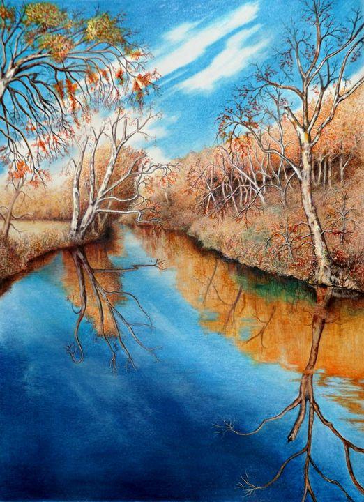 Autumn on the Elkhorn - David Neace Artist