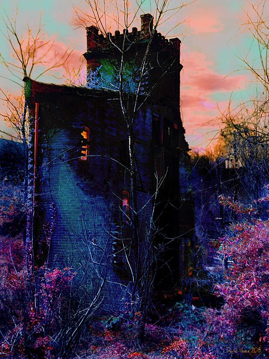 Lost Tower of The Blue KIng - David Neace Artist