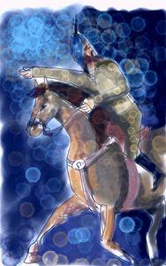 ancient horse rider