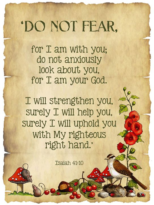 Do Not Fear, Bible Verse, Nature Art - Joyce's Art