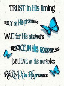 Religious Poster, Blue Butterflies - Joyce's Art