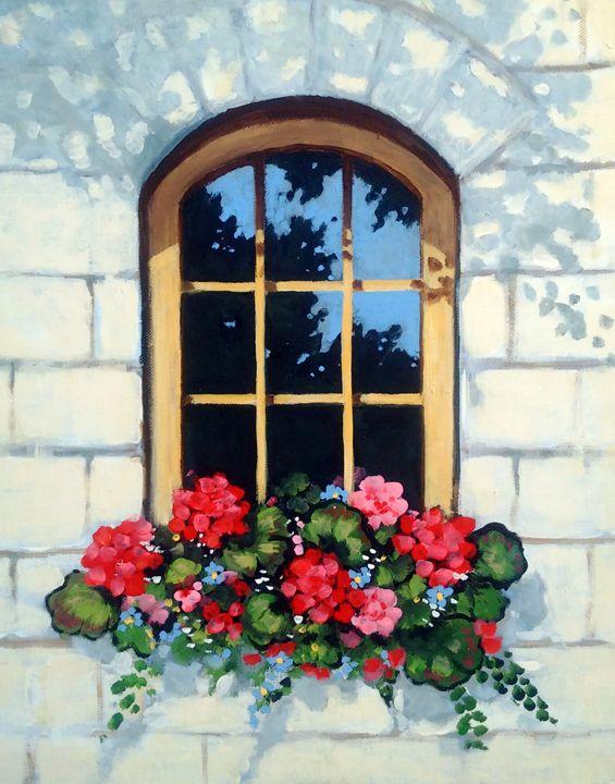 Sunny Window With Flower Box - Joyce's Art