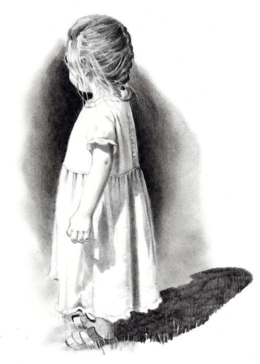 Small Girl in Sunshine - Joyce's Art