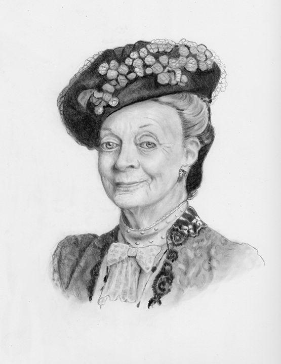 Dowager Countess Downton Abbey - Joyce's Art