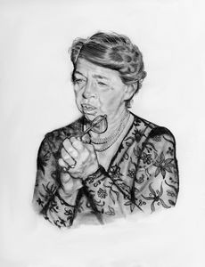 Mrs. Eleanor Roosevelt, Pencil Art - Joyce's Art