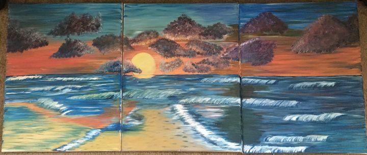 Sunset after a storm - Rosebud's Custom Art