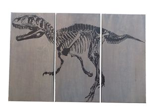 Fossil Velociraptor DINOSAUR SKELETO