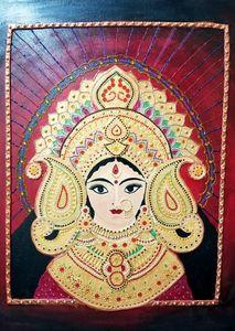 Maa Durga Mural Art