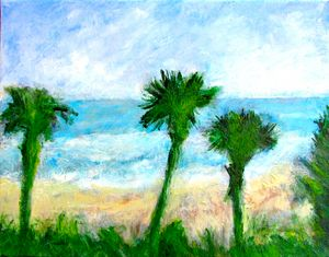 Three Palms - DonWillisJrArt
