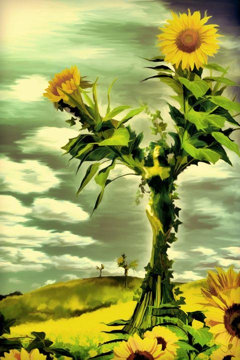 Sunflower Goddess - de Boer Gallery