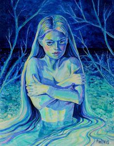 Lonely Mermaid in Water