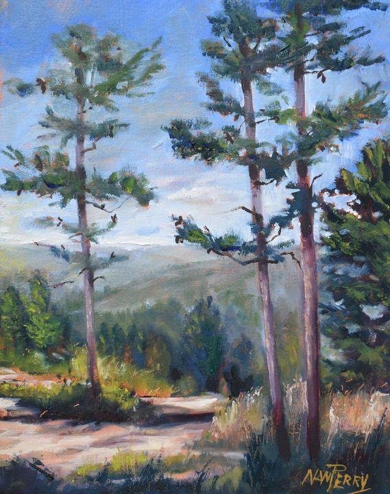 Toward Talladega National Forest - NanPerryArt