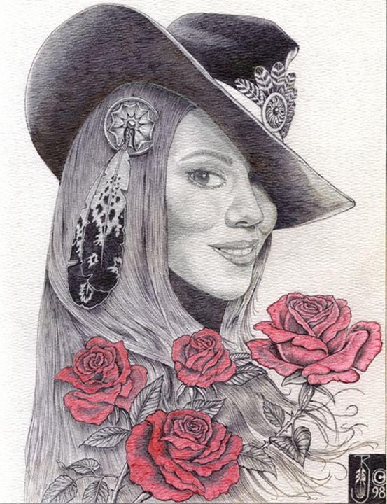 Mariah Cowgirl - Rockin Native Art