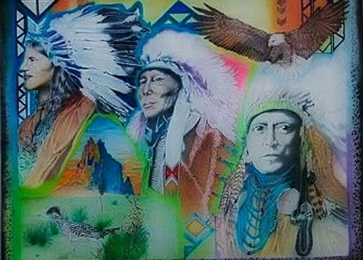 3 Chiefs in Shiprock - Rockin Native Art