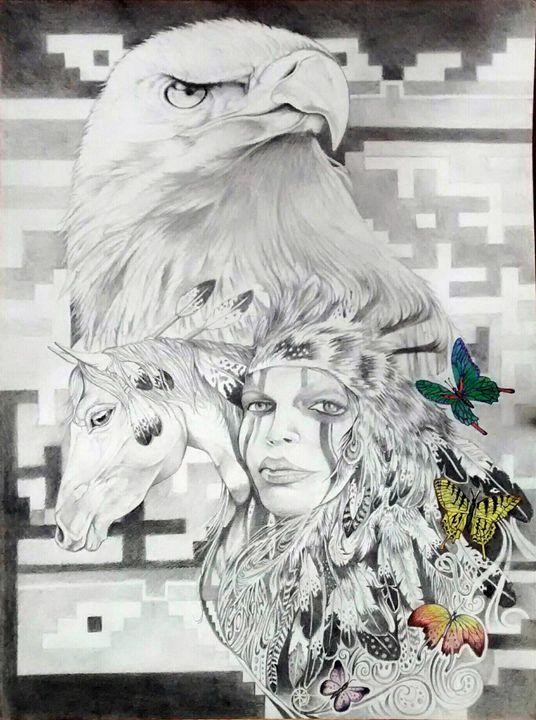 Freedom - Rockin Native Art
