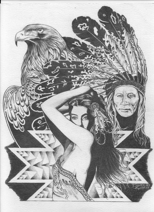 Chief Golden Eagle - Rockin Native Art