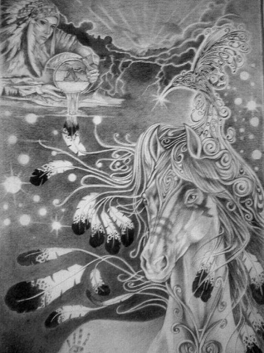 Celestial Horse - Rockin Native Art