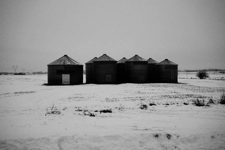 Cold Alberta Grain Silo - Christine Solomon