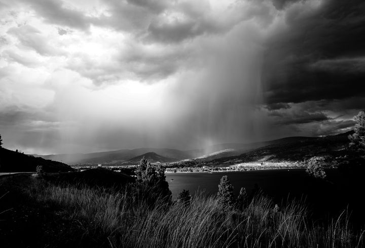 When the sky spills into the sky - Christine Solomon