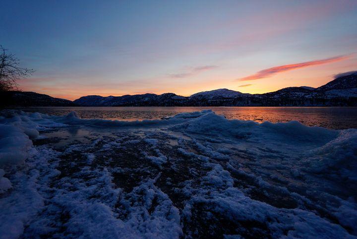 Sunset on Skaha Lake - Christine Solomon