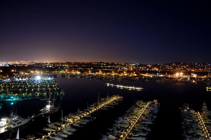 San Diego at night In Color - Christine Solomon