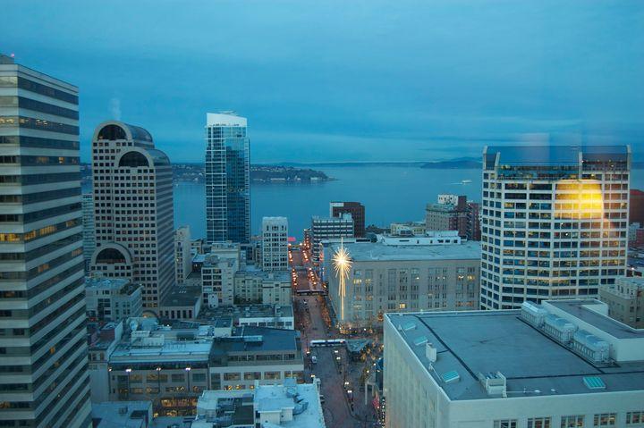 Seattle Skyline Color - Christine Solomon