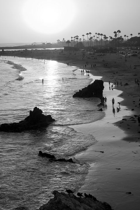Laguna Sunset BW - Christine Solomon