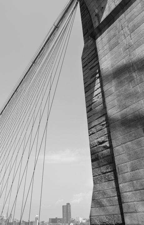 Brooklyn Bridge Pt 2 BW - Christine Solomon