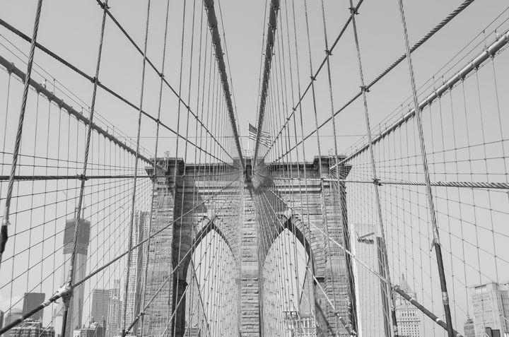 Brooklyn Bridge Pt 4 BW - Christine Solomon