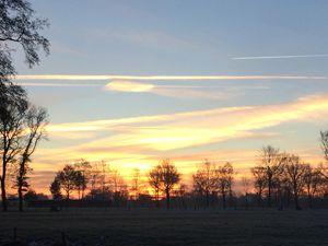 Dawn above the frozen field