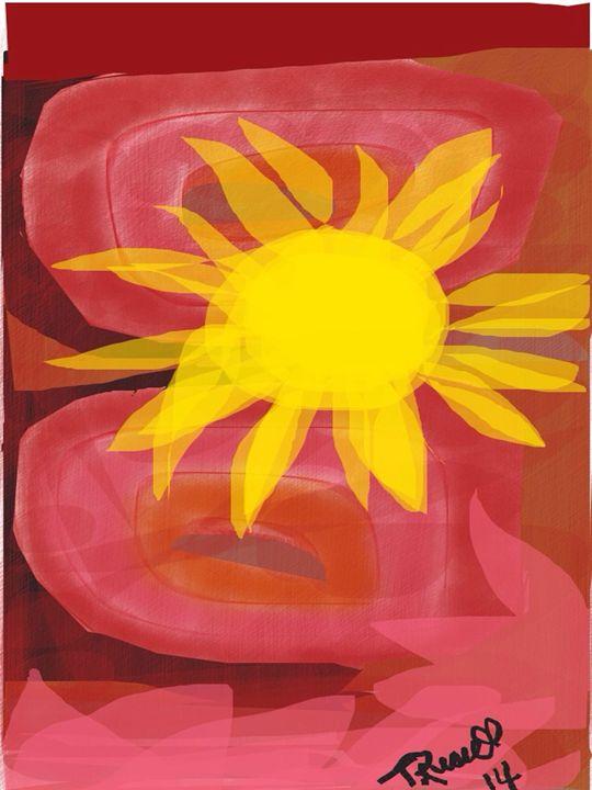Sunset blaze - Trey duz art