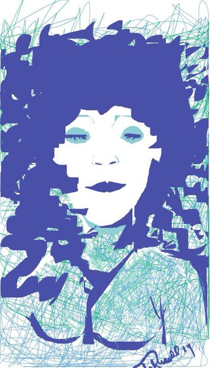 Blue slumber - Trey duz art