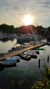 Sunbeam through rowboats