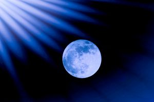 Blue Rays On The Moon