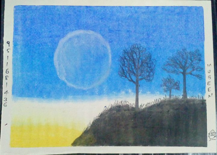 A Full Moon Evening - Mubeen Ansari