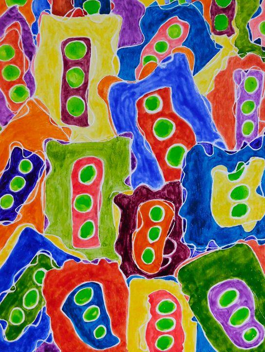 Green Lights - Charity Dawnn Art