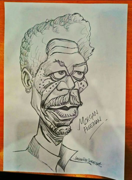 Morgan Freeman - Jagddish Singh Art