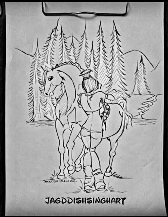 The Adventure - Jagddish Singh Art