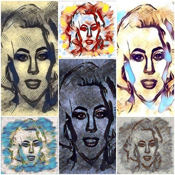 Gaga Collage - Brenda Winters