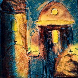 Digital art of Church - Brenda Winters