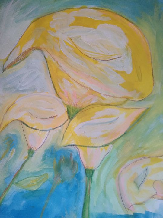 Lillies in Watercolor - Brenda Winters
