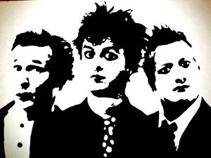 Green Day Pop Art Canvas
