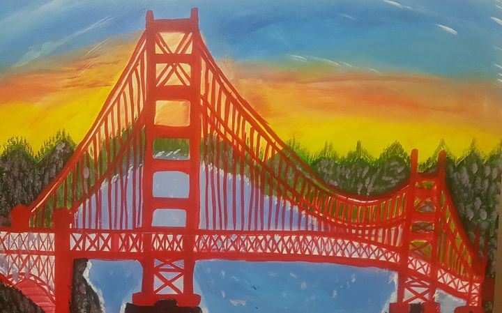 golden gate bridge - Art by Habi
