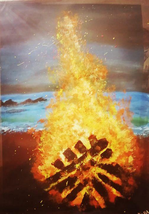 WOOD FIRE - Art by Habi