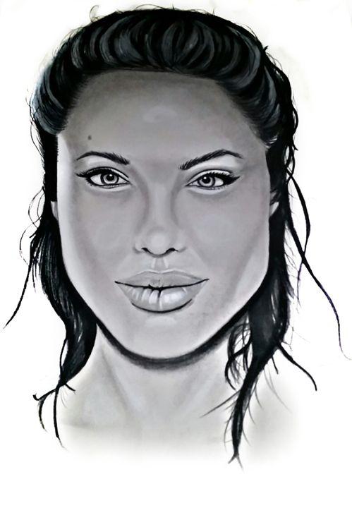 Angelina Jolie - Abram Espinoza's Pencil Portraits