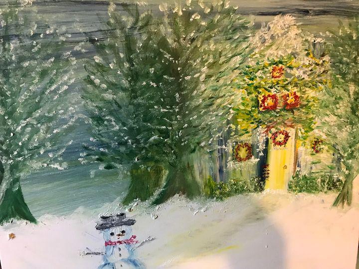 Snowy Nights - Deborahmillsopen door